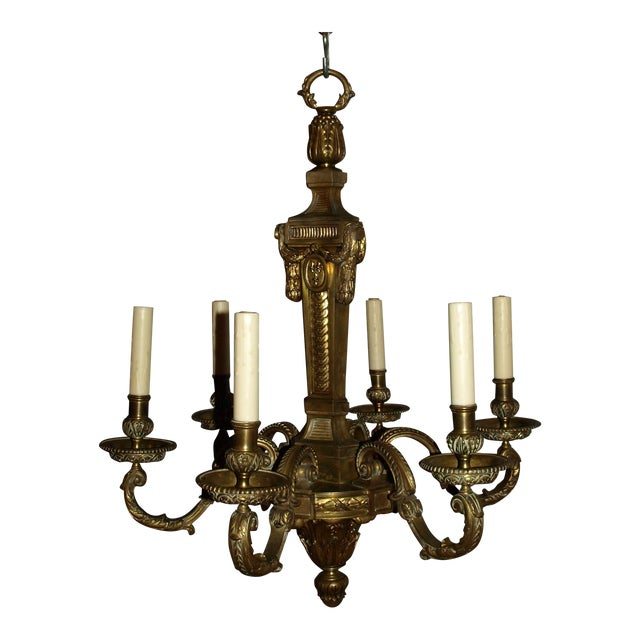 Antique Chandelier in Louis XVI Style For Sale