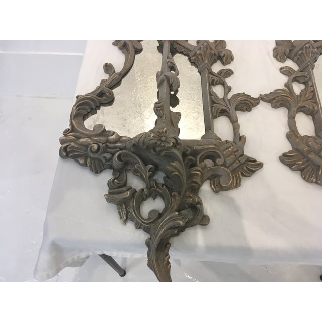 Glass Chinese Chippendale Style Mirrors, a Pair For Sale - Image 7 of 13