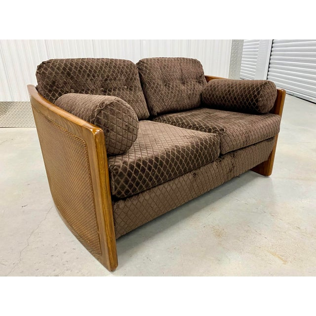Mid Century Modern Reupholstered Loveseat For Sale - Image 10 of 10