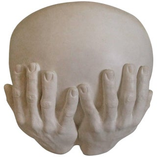 1970s 'Hands' Lighted Wall Sconce by Richard Etts For Sale