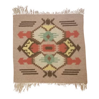 Early 20th Century Mayan Sampler Rug - 1′8″ × 1′10″ For Sale