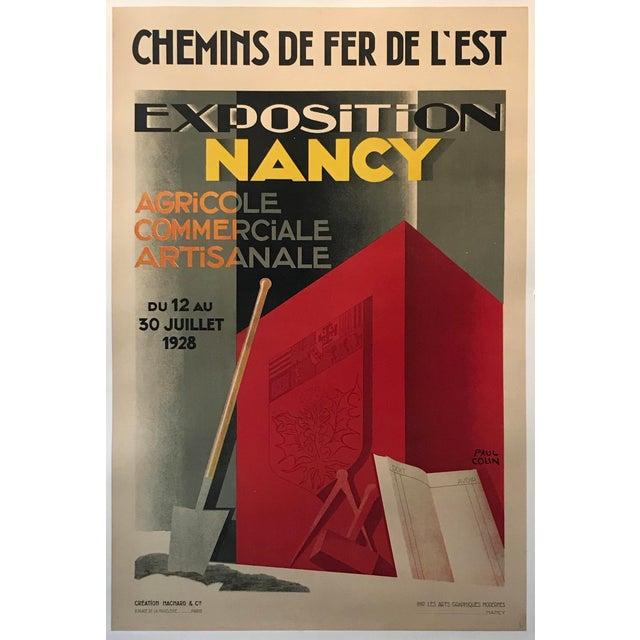 1928 Original French Art Deco Poster, Paul Colin, Exposition De Nancy (Large) For Sale - Image 9 of 9