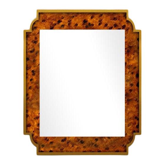 Fleur Home x Chairish Camp Mirror in Tortoise, 24x36 For Sale
