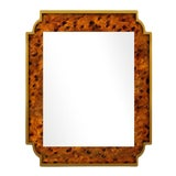 Image of Fleur Home x Chairish Camp Mirror in Tortoise Print Finish, 24x36 For Sale