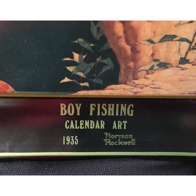 Boy Fishing, Norman Rockwell Coca-Cola Tray 1935 - Image 3 of 6