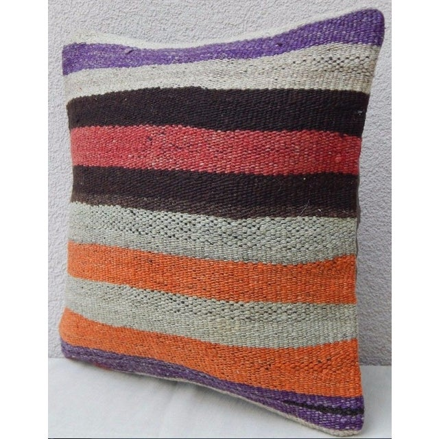 Contemporary Handmade Turkish Kilim Pillow For Sale - Image 3 of 6