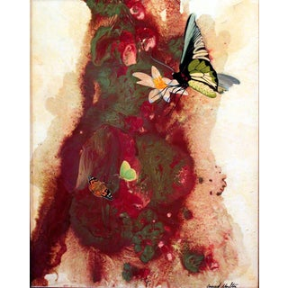 Abstract With Butterflies Giclee Print For Sale