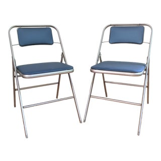 Vintage Samsonite Folding Chairs - a Pair For Sale