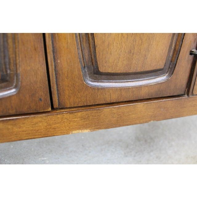Brown Mid-Century Danish Modern Broyhill Emphasis Walnut Credenza Dresser For Sale - Image 8 of 13