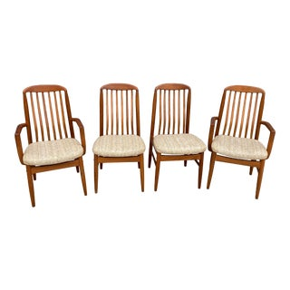 Mid Century Benny Linden Teak Dining Chairs - Set of 4 For Sale