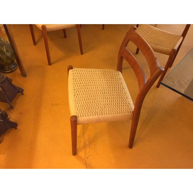 Niels Otto Møller for j.l. Møller Teak Dining Chairs, Model 84 - Set of 4 For Sale - Image 11 of 13