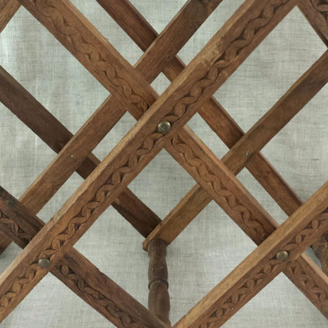 Teak Wood Wine Rack - Image 4 of 5