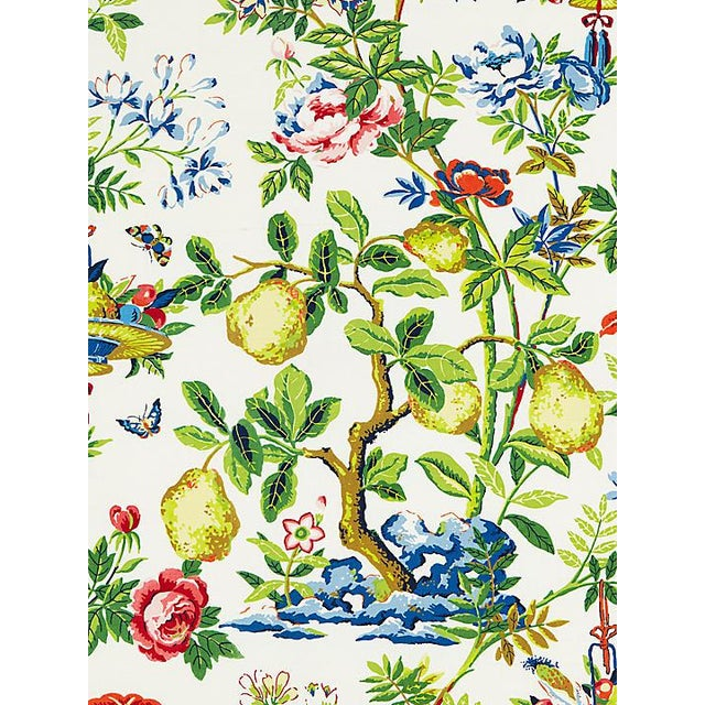 Asian Scalamandre Shantung Garden, Bloom Fabric For Sale - Image 3 of 3