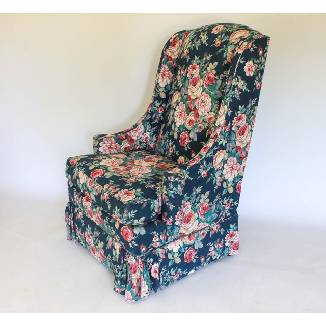 High Back Wing Chair For Sale - Image 4 of 12