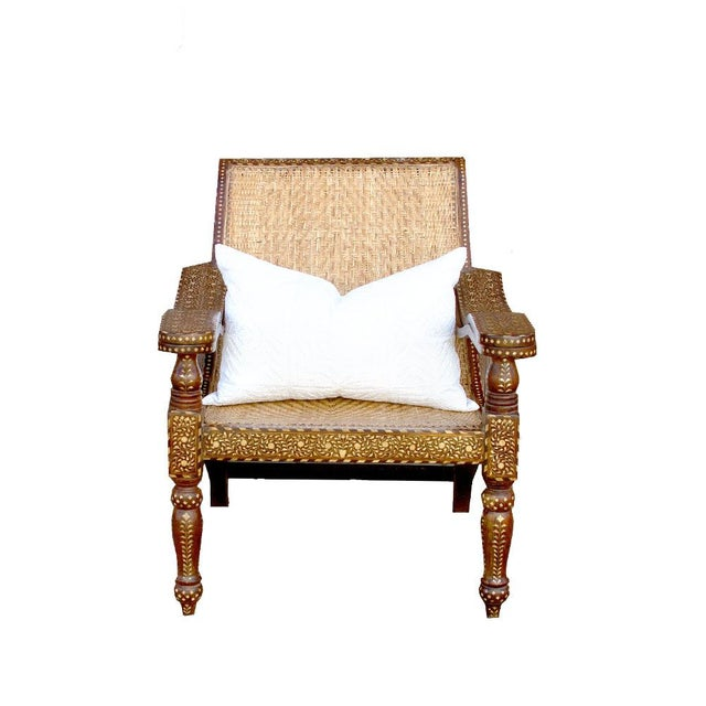 White Rare Plantation Inlaid Chair For Sale - Image 8 of 8