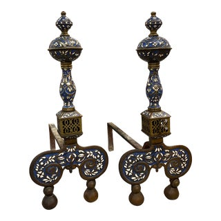 Pair of Early 20th Century French Andirons For Sale