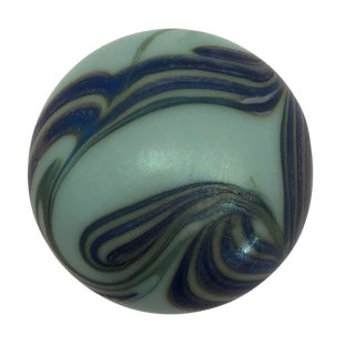Rusty Luttrell Signed Art Nouveau Style Art Glass Paperweight For Sale