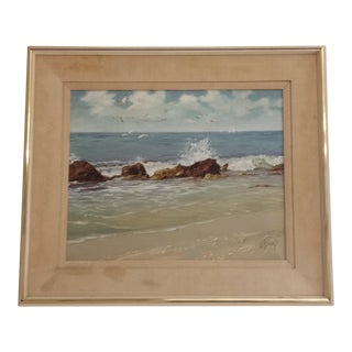 """Original """"Rocks"""" Oil Painting on Canvas by Al Buell For Sale"""