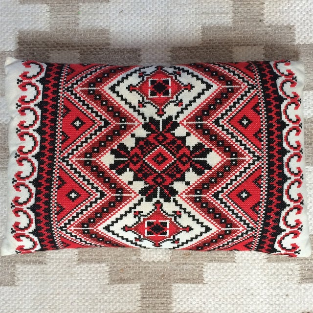 Handmade Embroidered Pillow - Image 3 of 5