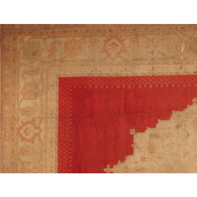 "Islamic Pasargad NY Antique Turkish Oushak Hand-Knotted Rug -- 12'6"" X 16' For Sale - Image 3 of 4"