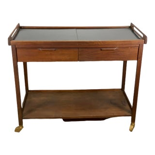 Mid Century Modern American of Martinsville Rolling Bar Cart For Sale