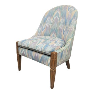 Italian Style Mid Century Slipper Chair For Sale