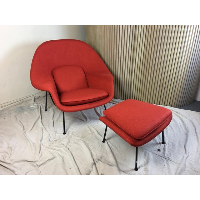 Eero Saarinen for Knoll 1950s Womb Chair and Ottoman - a Pair For Sale - Image 13 of 13
