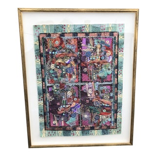 Large Susan Ullman Abstract 3d Collage For Sale