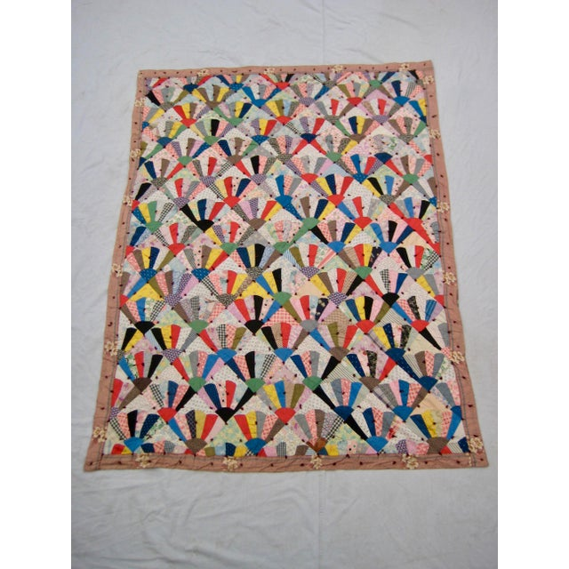 19th Century Antique American Quilt For Sale - Image 9 of 9