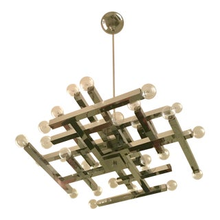 Mid-Century Modern Sciolari Chandelier For Sale