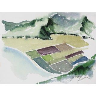 Aerial Landscape Study 20th Century Watercolor For Sale
