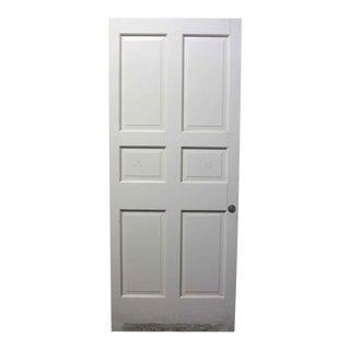 Six Panel White Wooden Interior Door