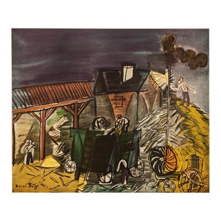 """1954 Raoul Dufy, First Edition Lithograph """"Threshing"""" For Sale"""
