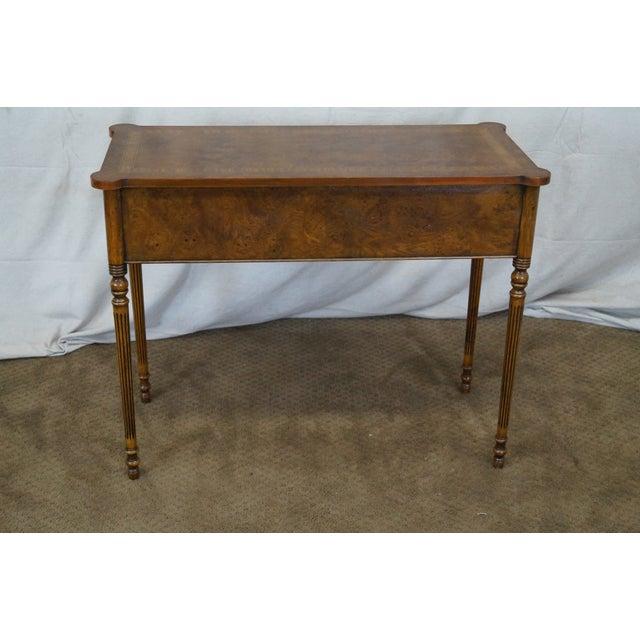 Sheraton English Burl Walnut Sheraton Style Console Table For Sale - Image 4 of 10