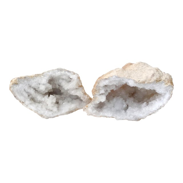 Quartz Crystal Geode - A Pair - Image 1 of 7