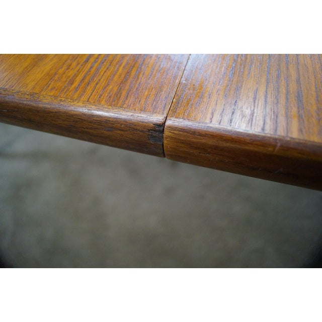 Vintage Round Teak Danish Dining Table For Sale - Image 10 of 10
