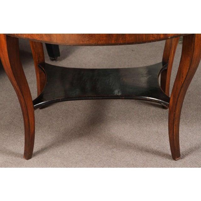 Georgian Early 20th Century Georgian Burl Wood Tray Top Coffee Table For Sale - Image 3 of 9