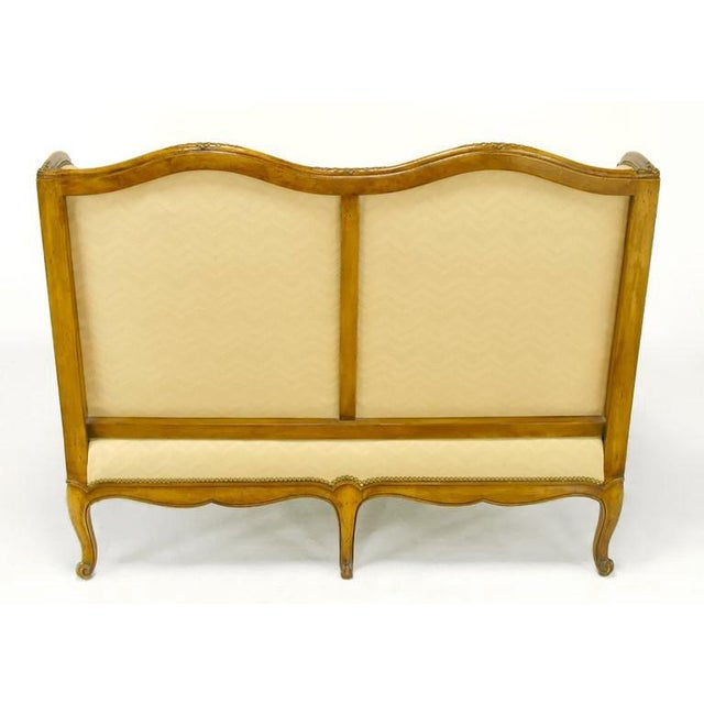 1960s Yale Burge Louis XV Wingback Settee For Sale - Image 5 of 9