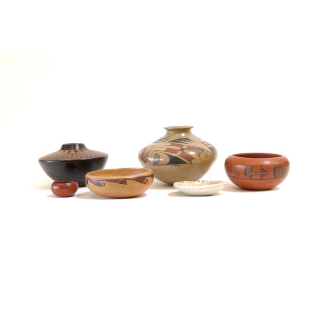 Native American Pottery Collection- Set of 6 | Chairish