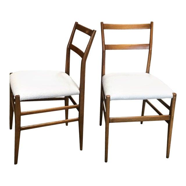 1950s Gio Ponti Superleggera Dining Chairs - a Pair For Sale