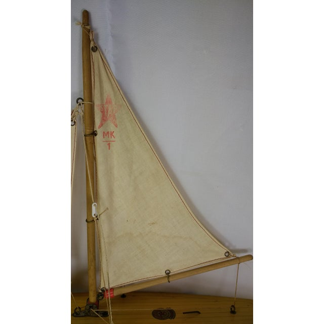Vintage Star Yacht Pond Sail Boat For Sale - Image 7 of 11