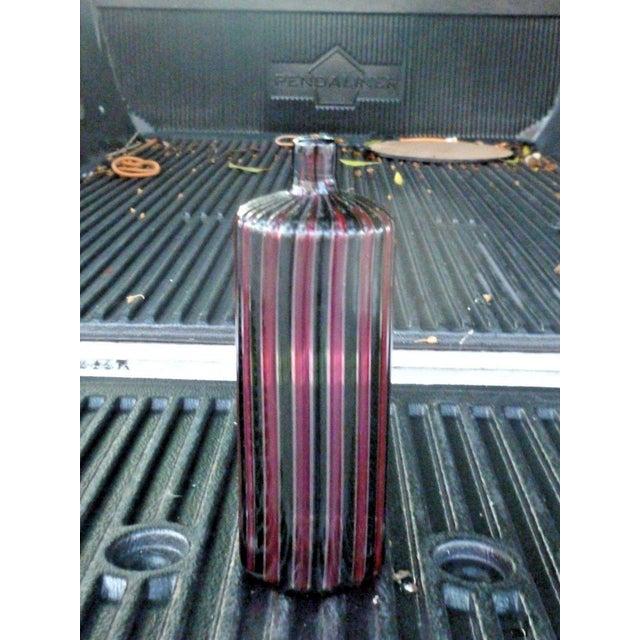 1960s Italian Murano Signed Venini Multi Striped Bottle For Sale - Image 13 of 13
