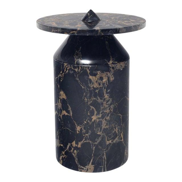 Black Portoro Marble Coffee Table by Karen Chekerdjian For Sale