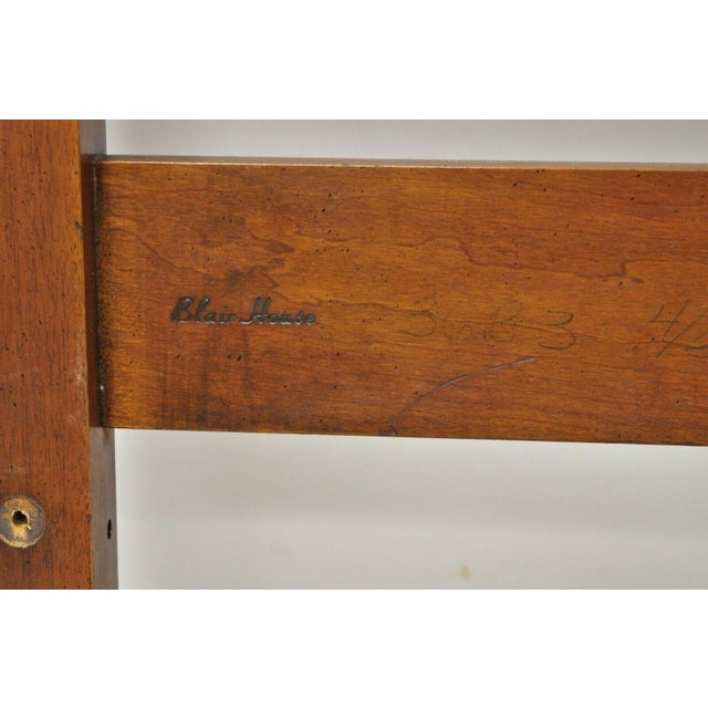Vintage Blair House Chippendale Style Mahogany Full Size Bed Headboard For Sale In Philadelphia - Image 6 of 10