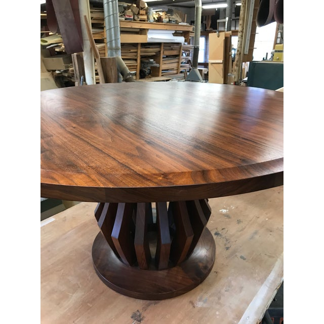 2010s American Black Walnut Center Table For Sale - Image 5 of 6