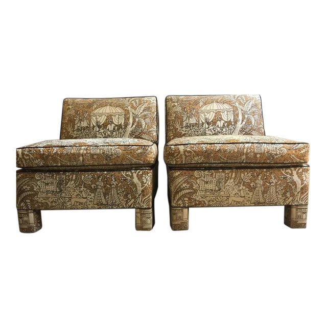 Vintage Billy Baldwin Club Lounge Chairs - A Pair - Image 1 of 5