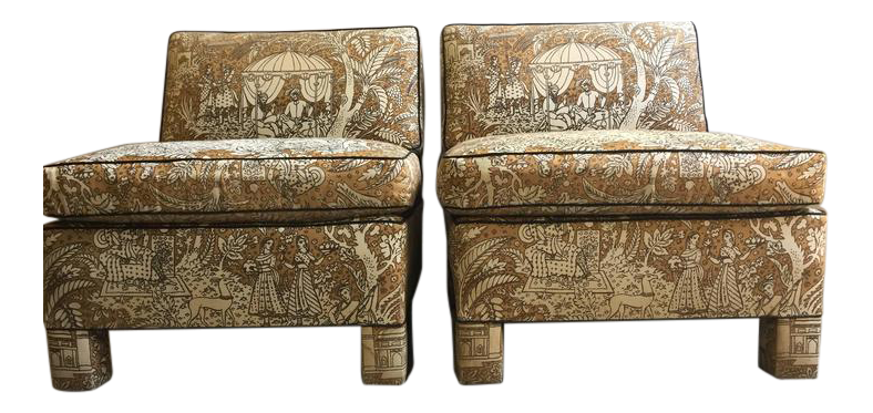 Vintage Billy Baldwin Club Lounge Chairs   A Pair