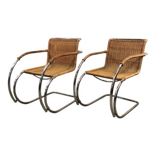 1960s Vintage Marcel Mies Van Der Rohe for Stendig Mr20 Armchairs- A Pair For Sale