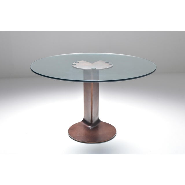 Postmodern 1970s Afra & Tobia Scarpa Bronze Table Tl59 For Sale - Image 3 of 13