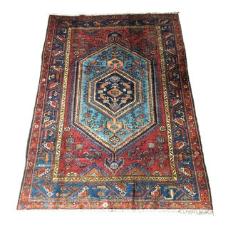 Hamadan Hand-Knotted Persian Rug - 4′7″ × 6′8″ For Sale